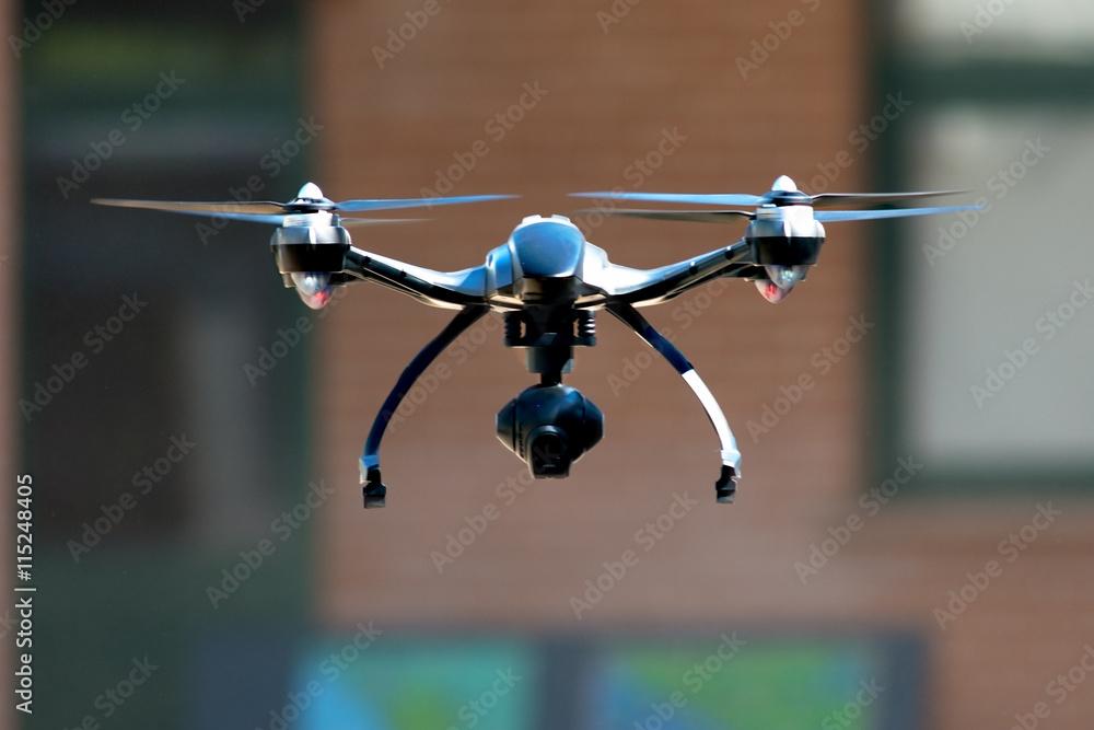 Fototapety, obrazy: drone flying near house