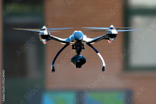 Fototapeta drone flying near house obraz