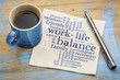 canvas print picture - work life balance word cloud