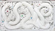 Stucco White Sculpture Decorative Pattern Wall Design Square For
