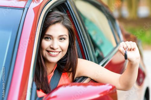 Fotografie, Obraz  Woman Driving Car