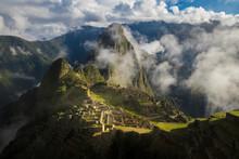 Foggy Ruin Of Machu Picchu - Peru
