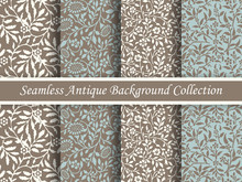 Antique Seamless Brown Background Collection_127