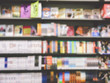 Blur or Defocus Background of book and bookshelf in book store