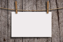 Note Paper With Wood Clip