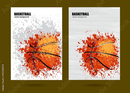 vector illustration basketball basketball sports posters design