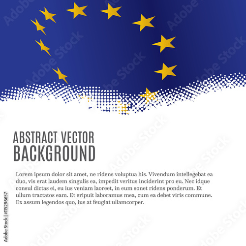 Obraz Vector background with European Union flag and copy space - fototapety do salonu
