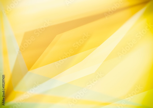 Fototapety, obrazy: Triangular shapes, yellow geometric abstract background.