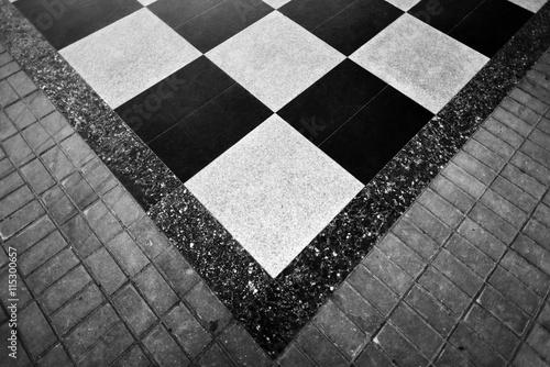Fototapety, obrazy: checkerboard tiles