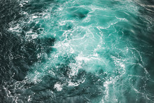 Blue Stormy Sea Water Surface Background