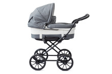 Baby Carriage On White Backgro...