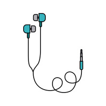 Earphones  Isolated Icon Design