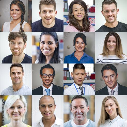 Fotografie, Obraz  Multi Ethnic Adult Portraits