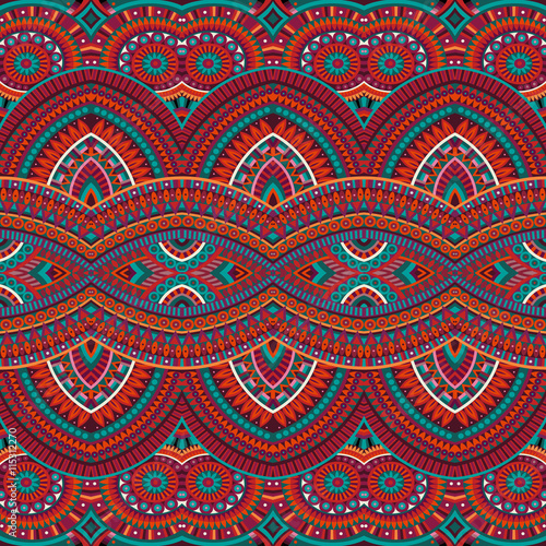 Fotomural tribal ethnic background seamless pattern