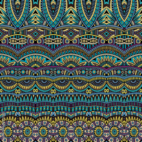 Cotton fabric Abstract vector tribal ethnic background pattern