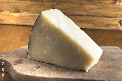 Fotografie, Obraz  pecorino romano cheese made from sheep's milk, Italian typical product