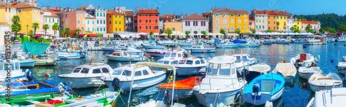 Foto auf Gartenposter Stadt am Wasser Panorama ancient town on the Adriatic Sea. Terracotta roo