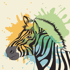Panel Szklany Zebry zebra icon. Animal and art design. Vector graphic