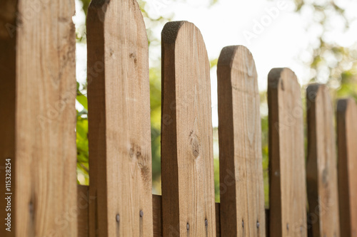 Fotografie, Obraz  Fragment of a wooden fence