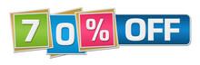 Seventy Percent Off Colorful Squares Bar