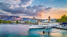 Historic City Center Of Geneva...