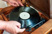 Vinyl Disc In Hand