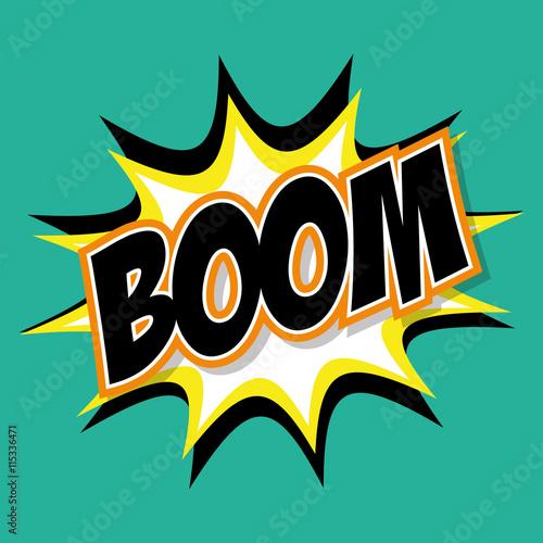 Fotografia  Explosion and pop art concept represented by boom icon