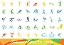 Sport Icons - Ebenen Einzeln G...