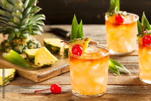 Fotografie, Obraz  Homemade Mai Tai Cocktail