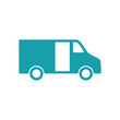delivery van icon on white background