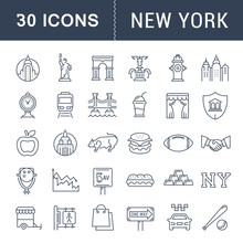 Set Vector Flat Line Icons New...