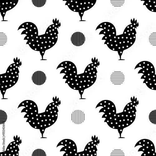 koguty-z-ozdobnymi-kropkami-bezszwowy-deseniowy-tlo-z-kogutami-symbol-2017-roku-czarno-bialy-kogut-tekstura