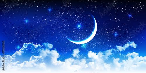Halloweenowy nocne niebo gwiazdy tło