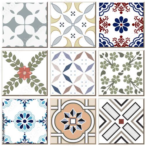 rocznik-retro-ceramicznej-plytki-wzoru-ustalona-kolekcja-037