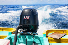 Outboard Engine At Work