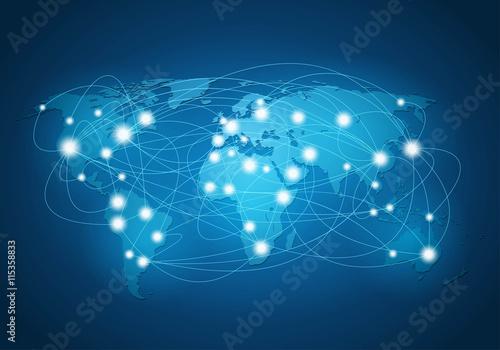 Fototapeta ベクター、世界のネットワーク obraz