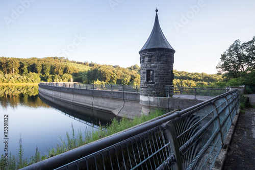 Deurstickers Dam hasper dam germany