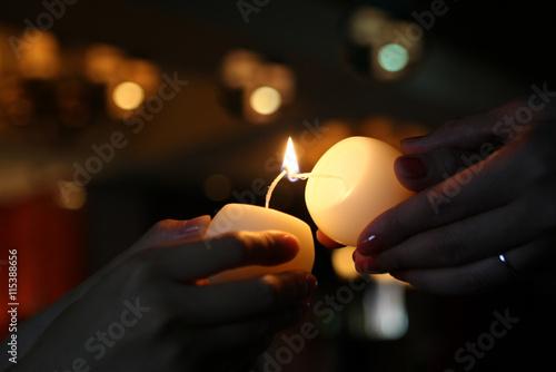 Fotografia Candle relay