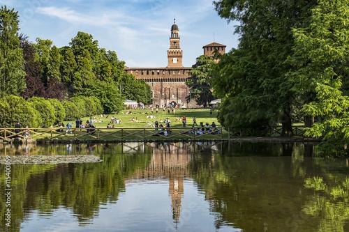 Fotografie, Obraz  MIlano parco Sempione