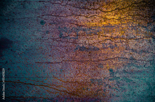 Fototapeta Fine Art Rusted Metal Surface With Many Colors