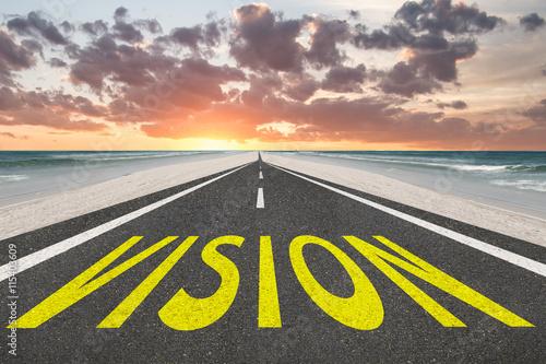 Fotografie, Obraz  Vision text on highway inspirational background