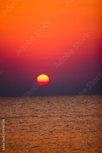 Sunrise over the ocean - 115409204