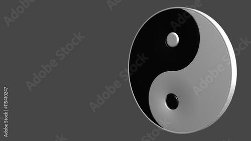 Plakat yin symbol