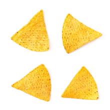Single Corn Tortilla Chip Isolated