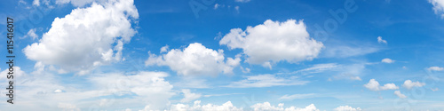 Aluminium Prints Heaven Vibrant color panoramic sky with cloud on a sunny day.