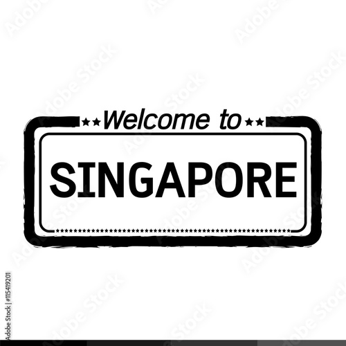 Photo  Welcome to SINGAPORE illustration design