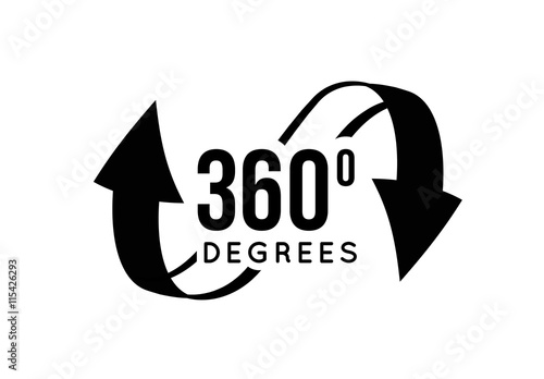 Fotografia  Angle 360 degrees view sign icon.