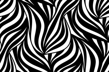FototapetaVector floral background of drawn lines