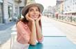 Leinwanddruck Bild - Beautiful fashion woman outdoor on the street of the old Italy t