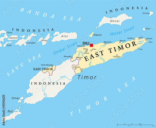 East timor political map with capital dili national borders east timor political map with capital dili national borders important cities and rivers publicscrutiny Choice Image